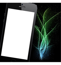 Realistic black smartphone background vector
