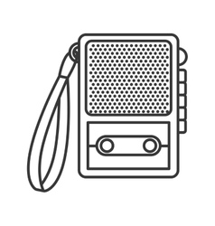 recorder device icon vector image