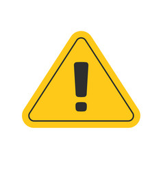 Risk attention road sign or alert caution yellow vector