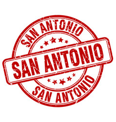 San antonio red grunge round vintage rubber stamp vector