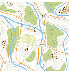 Seamless topographic map unknown territory vector