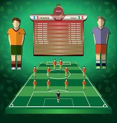 Soccer Match Statistics vector image