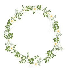 The floral concept of circle frame vector