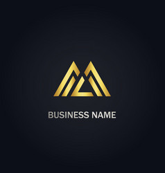 triangle shapeline business logo vector image