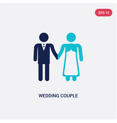 Two color wedding couple icon from birthday party vector