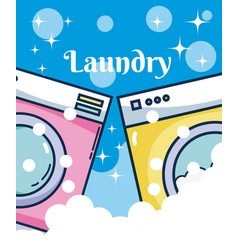 Washer machines laundry vector
