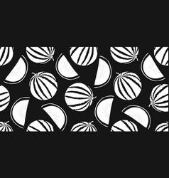 watermelon seamless pattern hand drawn fruit vector image