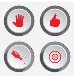 WEB tools icons Kursor like hand target signs vector image