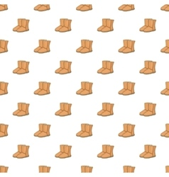 Winter ugg boots pattern cartoon style vector image