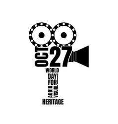 World day for audio visual heritage vector
