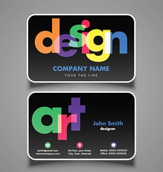 artists business card 1008 vector image vector image