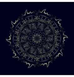 Ethnic pattern mandala in the style of doodle vector image