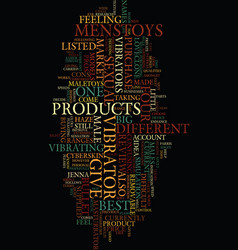 mens sex toys product review text background word vector image vector image