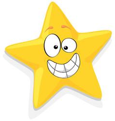 Of Happy Yellow Star Cartoon Characte vector image vector image
