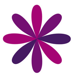 purple flower formed by some petals vector image