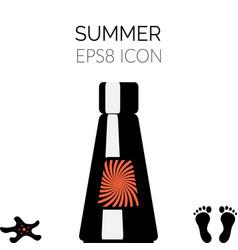 sunscreen icon vector image