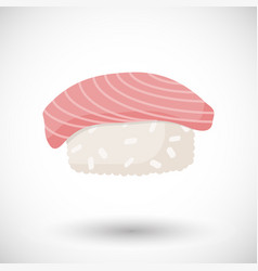sushi flat icon vector image vector image