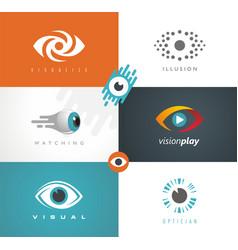 visual media logos symbols icons and signs vector image