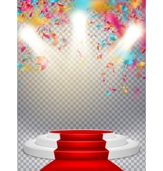 White winners podium EPS 10 vector image vector image