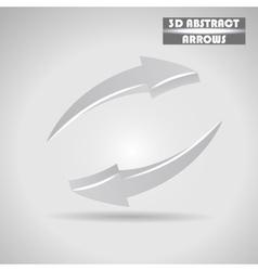 abstract gray arrows 3d vector image vector image