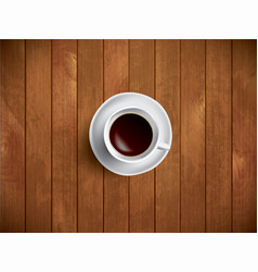 coffe on the wooden table vector image