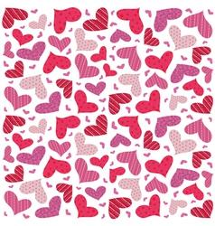Valentine seamless hearts pattern vector