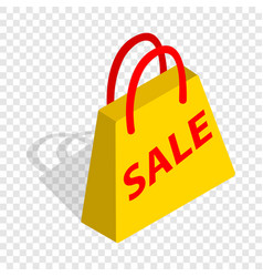 bag with word sale isometric icon vector image