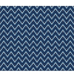 blue knitted pattern vector image