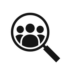 magnifying glass looking for people icon vector image vector image