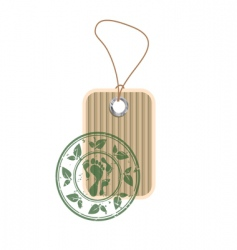 paper tag with stamp vector image vector image