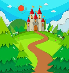 Castle towers at daytime vector image