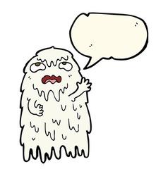 gross cartoon ghost with speech bubble vector image