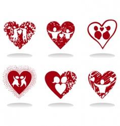 heart icon8 vector image vector image