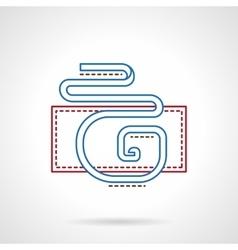 Thin color line party streamer decor icon vector image