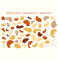 Abstraction organic shapes set vector