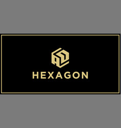 Ad hexagon logo design inspiration vector