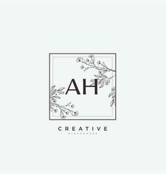 Ah beauty initial logo art handwriting logo vector