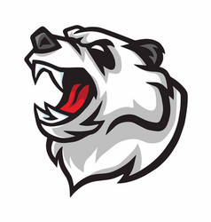 angry panda roar mascot logo design vector image