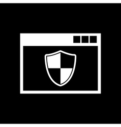 Antivirus icon design Firewall Antivirus symbol vector