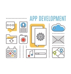 Application development Mobile apps vector image