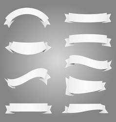 banner frame label ribbon element design white vector image