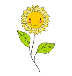 Beautiful smiling flower Floral Design Element vector image