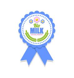 bio milk rosette vector image