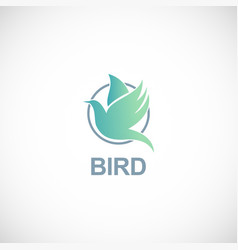 bird fly logo vector image