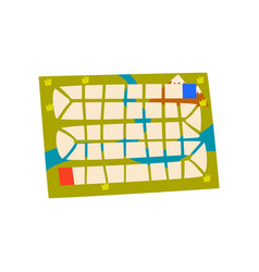 Board game map on a white vector