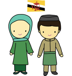 Brunei traditional costume vector image