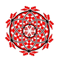 Circular pattern in traditional style vector