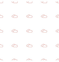 cloudy weather icon pattern seamless white vector image