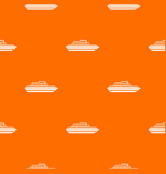 cruise ship pattern seamless vector image