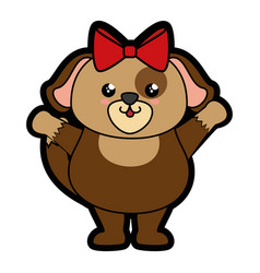 Dog kawaii cartoon vector